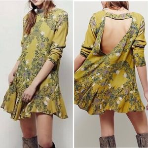 *FREE PEOPLE* Smooth Talker Floral Tunic Dress